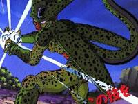 Cell utiliza el Kame Hame Ha, en su primera aparición, para sorpresa de todos