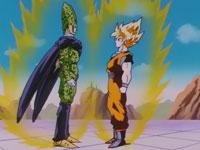 Gokuh y Cell, los dos mejores, frente a frente
