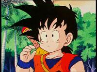 Son Gohan debe aprender a sobrevivir sólo, antes de ser entrenado por Piccolo